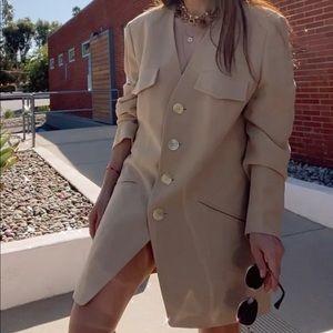 Tan Karl Lagerfeld Blazer Size 10